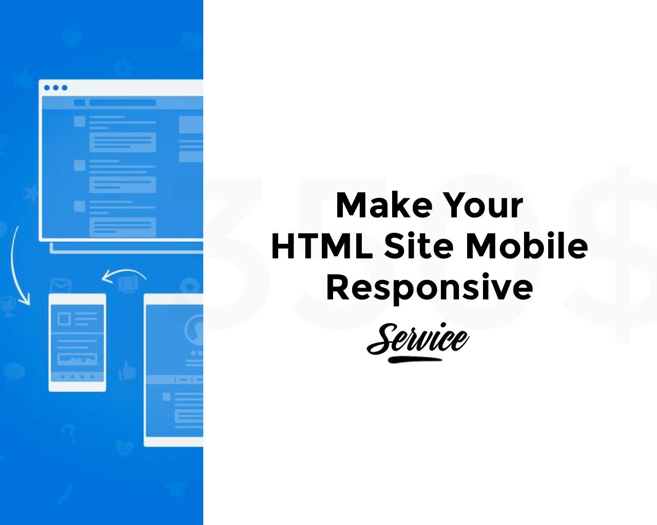 Make your HTML Site Mobile Responsive by pixelthrone - 103912