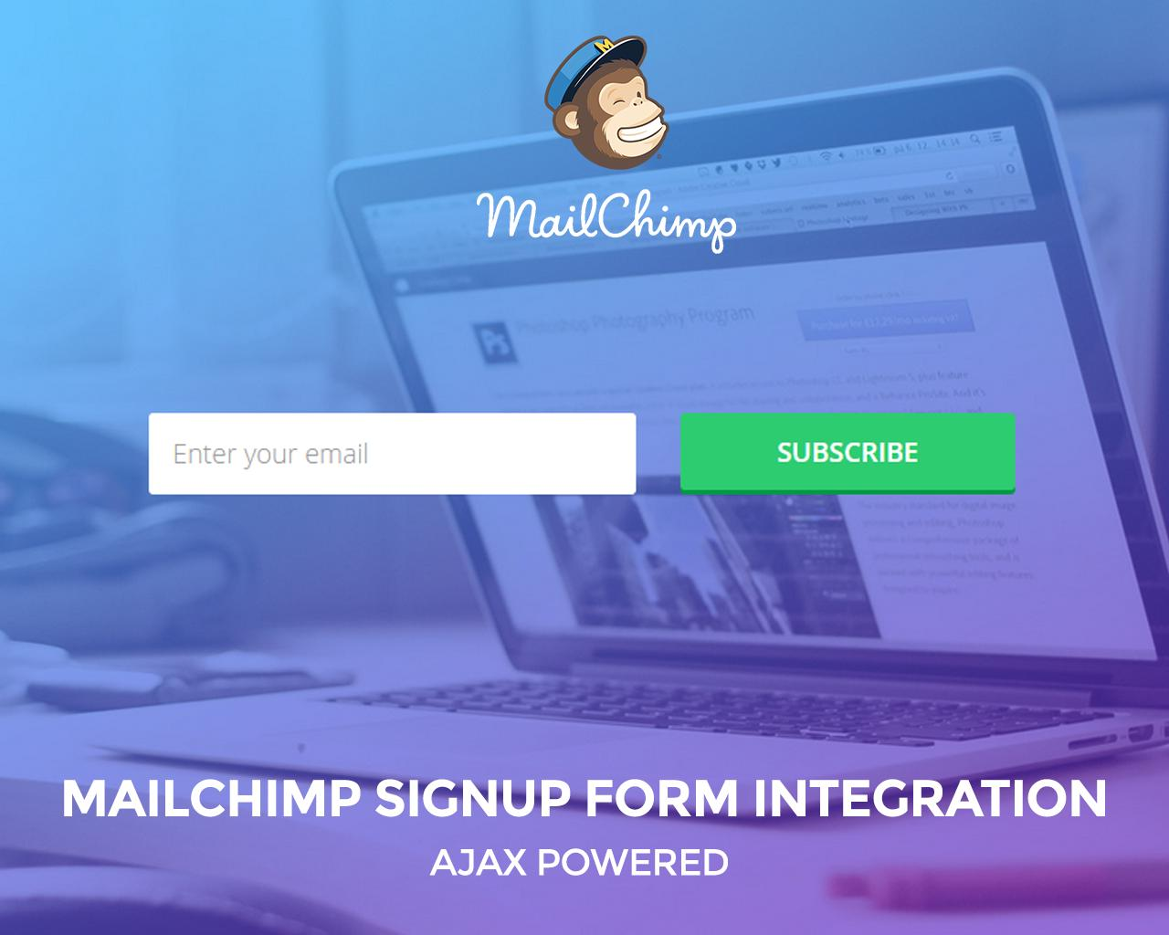 Ajax Signup Form Integration with Mailchimp by surjithctly - 69913