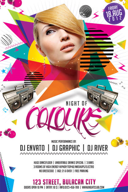 event club party flyer design by hermz on envato studio