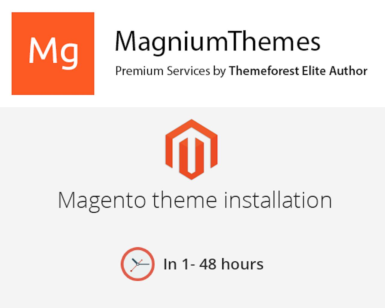 Premium Magento Theme Installation (Demo data & Plugins Setup, Customization) by Elite Author  by dedalx - 105776