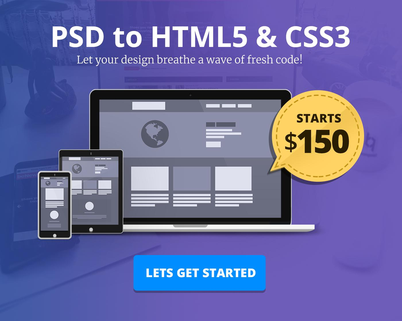 PSD to HTML5/CSS3 Website Development by BloomPixel - 110804
