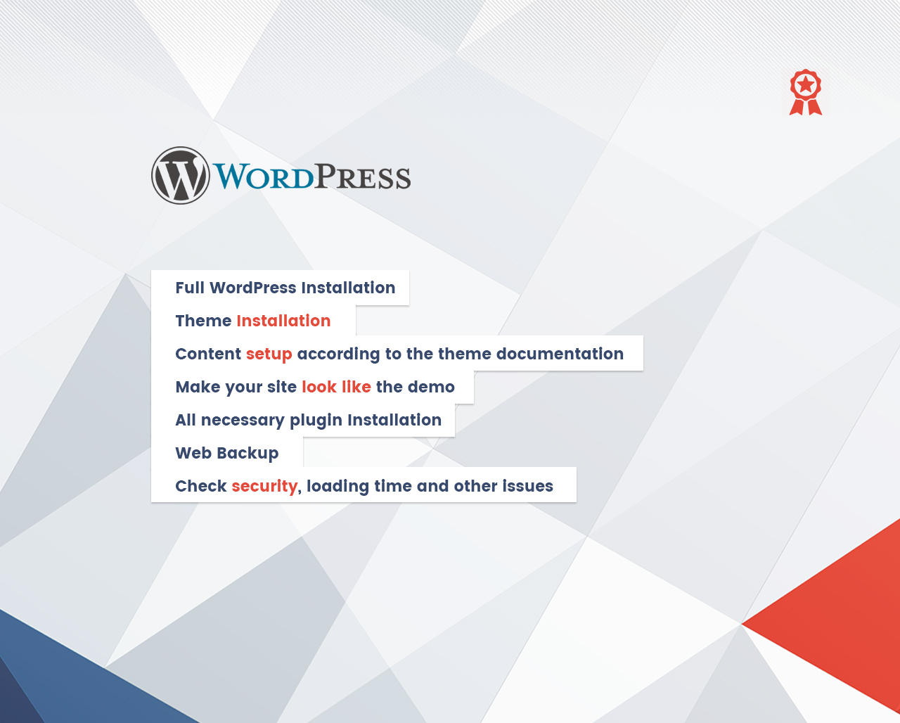 Complete WordPress Installation (Demo Setup, Logo, Plugins, SEO, Security & More) by themebeer - 101904