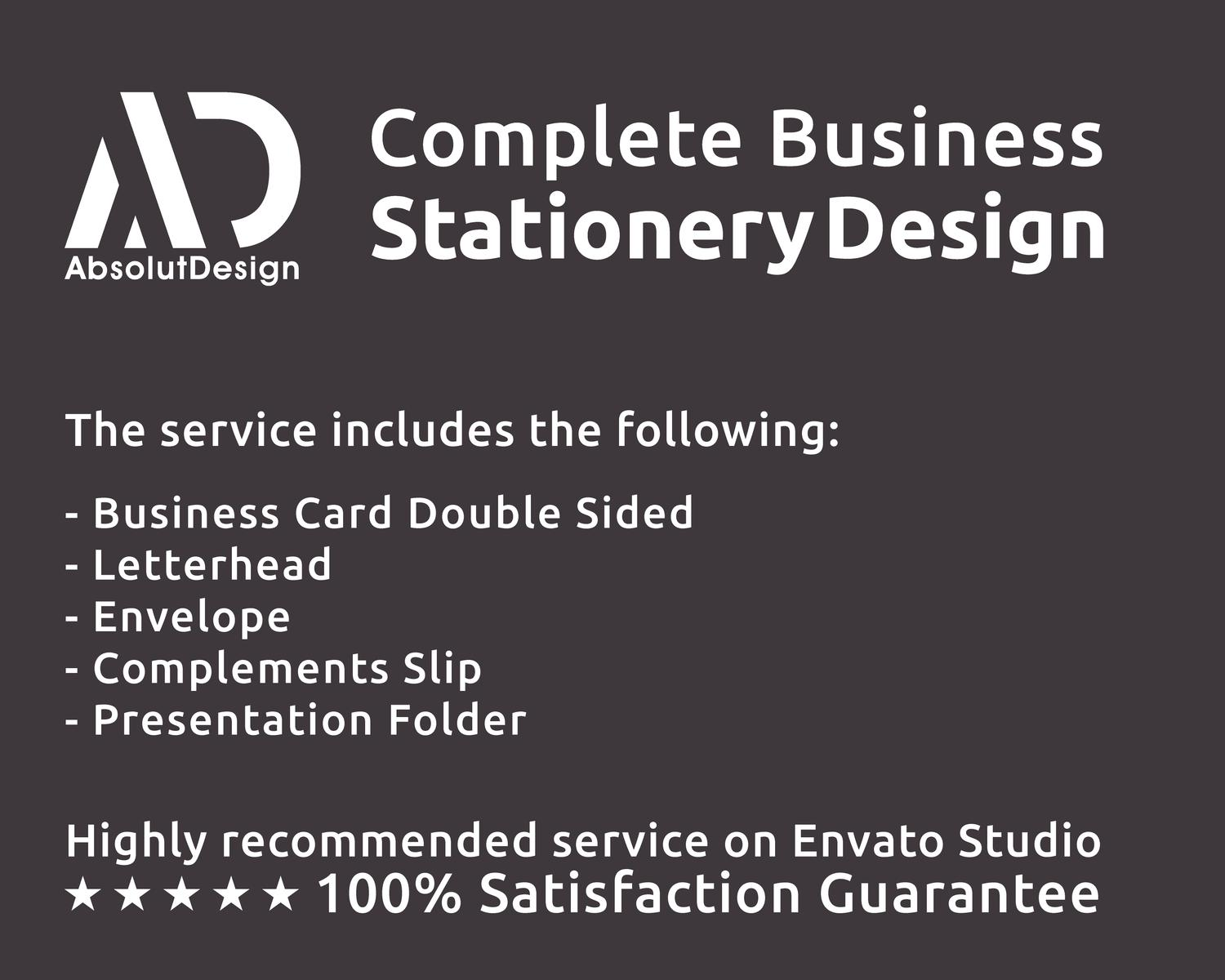 Complete Business Stationery Design by AbsolutDesign - 93615