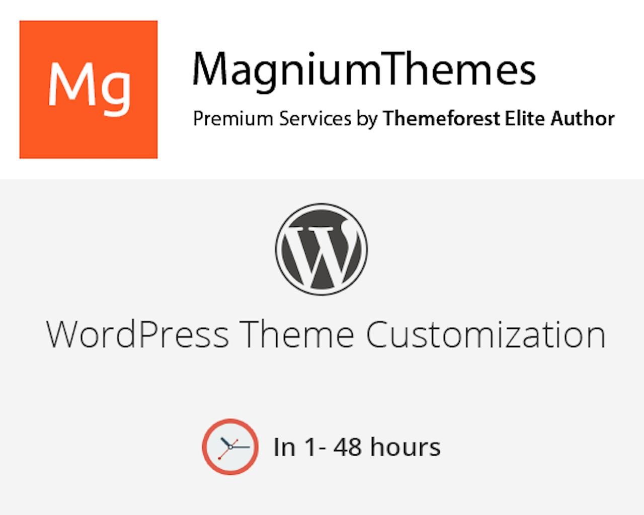 Premium WordPress Theme Customization (colors, features, layouts, etc) by Elite Author Team by dedalx - 105769