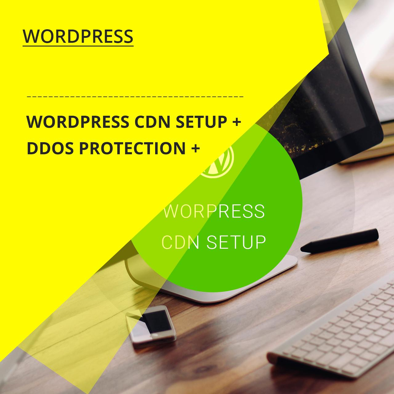 Wordpress CDN Setup + DDoS Protection by zendcrew - 108509