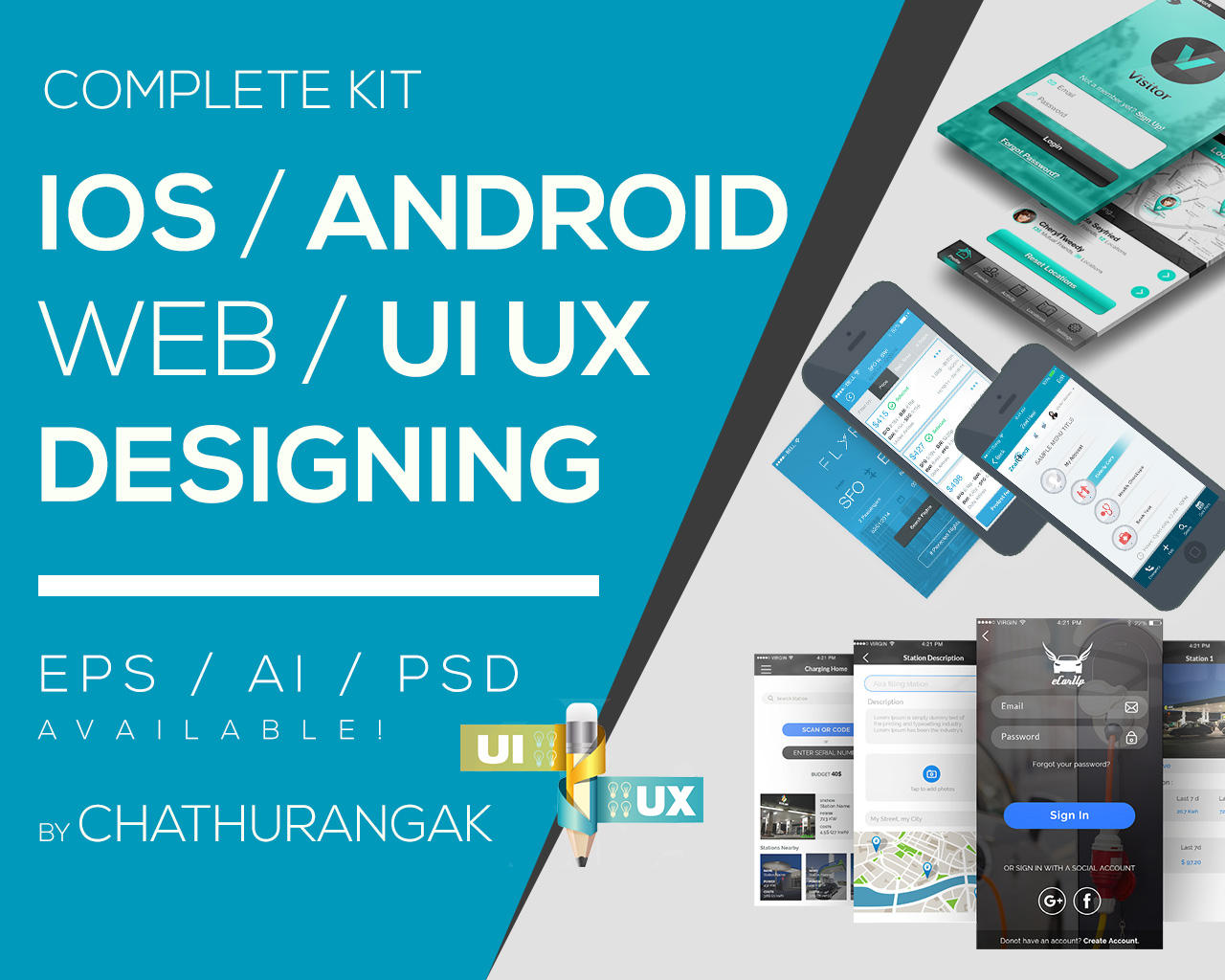 Mobile App UI Designing for iOS and Android by Graphicsc - 106635