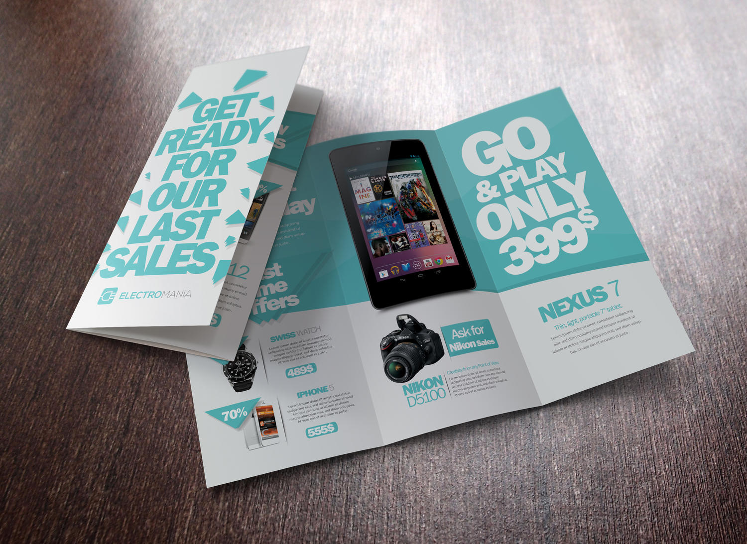 professional tri fold brochure design by unicogfx on envato studio
