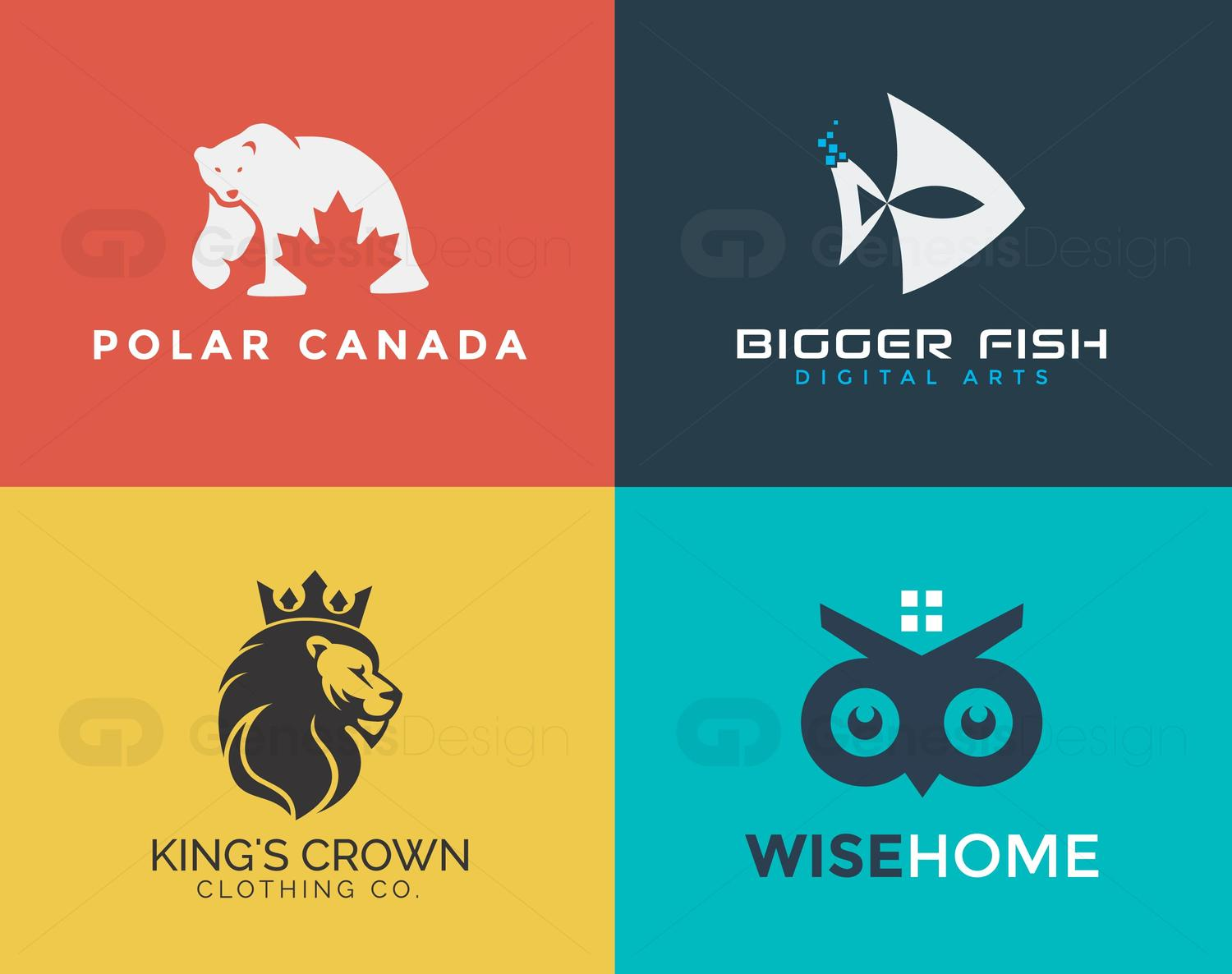 Simple and Creative Logo Design by GenesisDesign - 99986