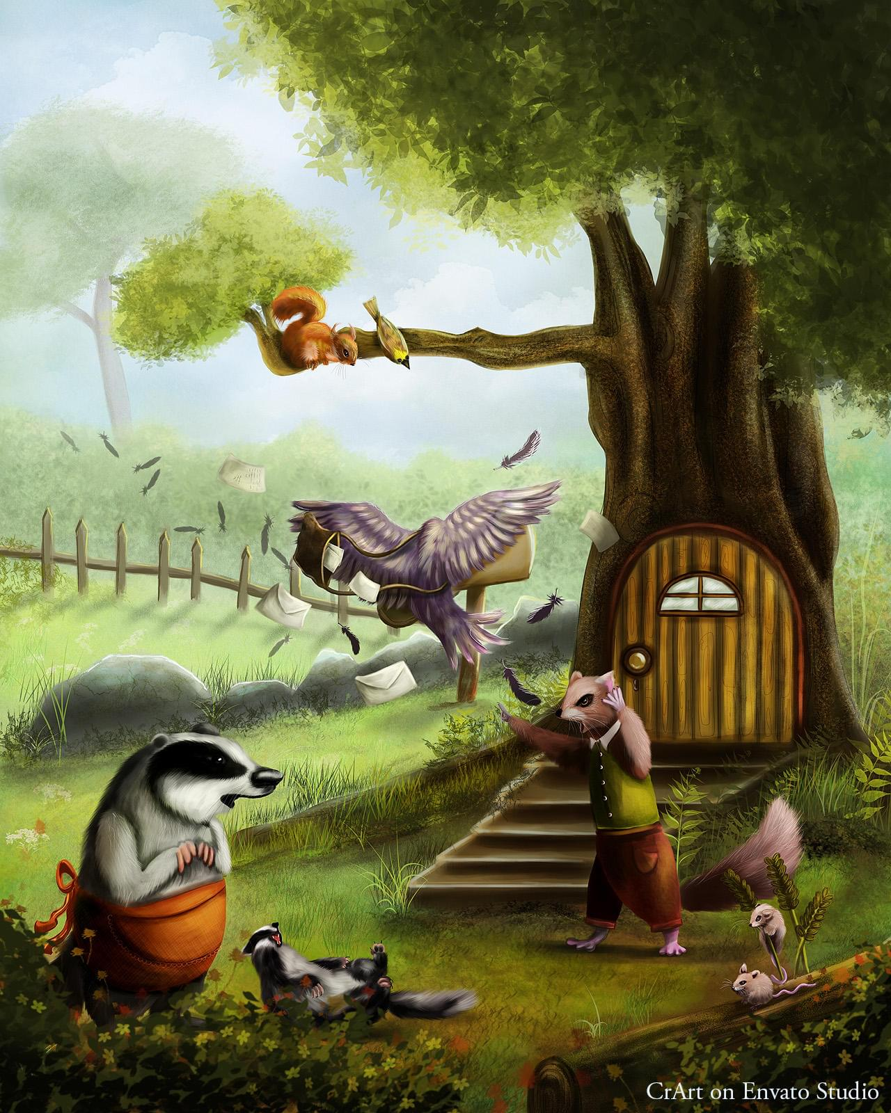Children Illustration - Digital Painting - Storybook Illustration - Children Books by CrArt - 112052
