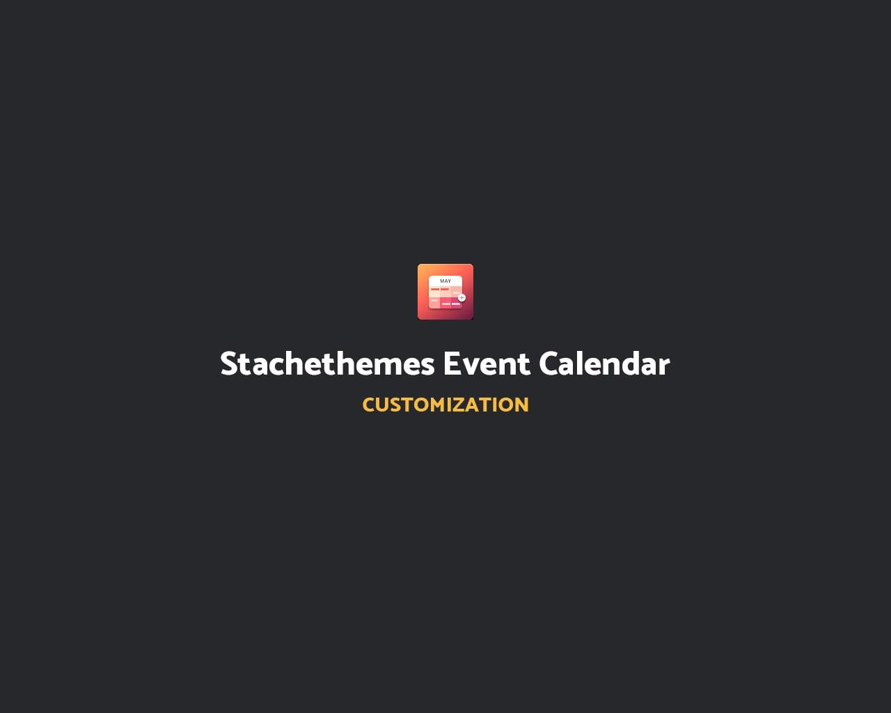 Stachethemes Event Calendar Customization by Stachethemes - 112240