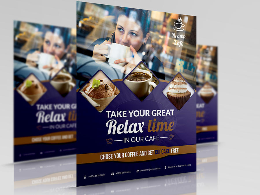 Restaurant and Cafe Flyer Template by OWPictures - 35789