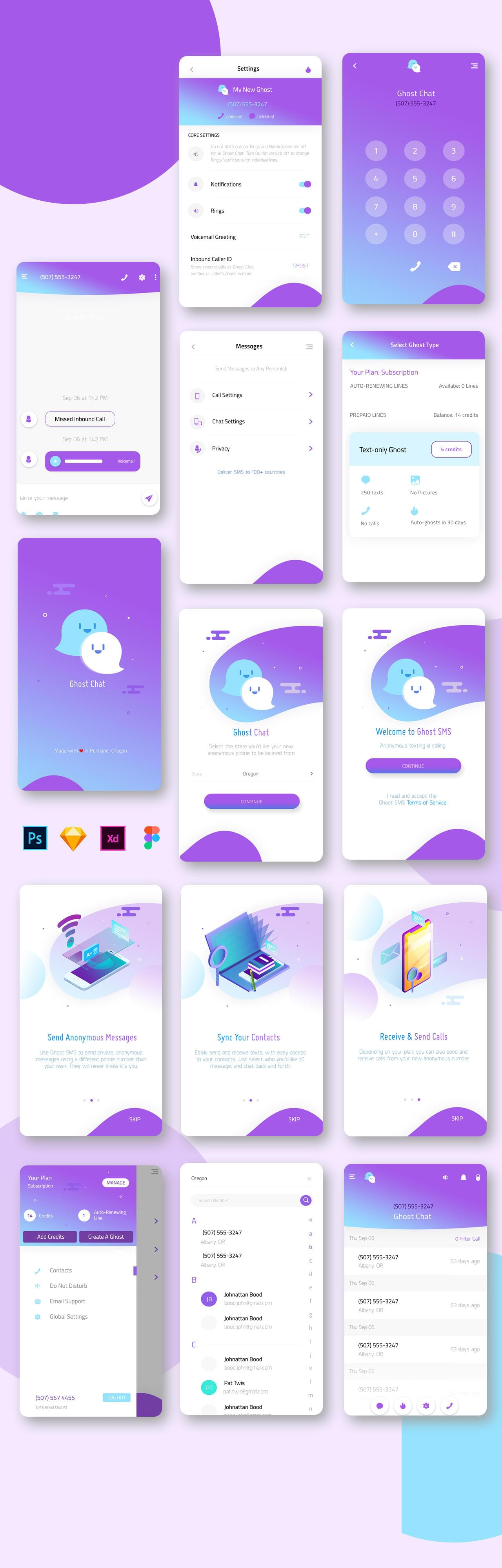Mobile App interface UI/UX for iOS and Android design by idesignera - 116705