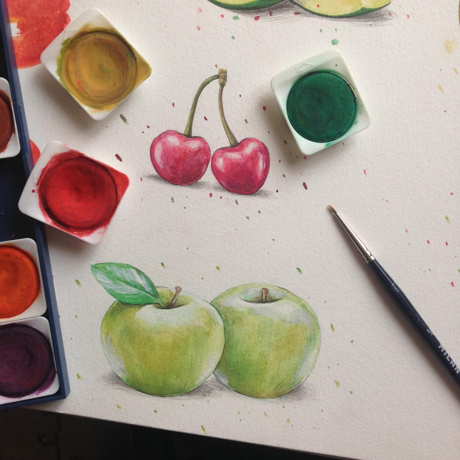 Simple Watercolor Illustrations by Geanine87 - 106254