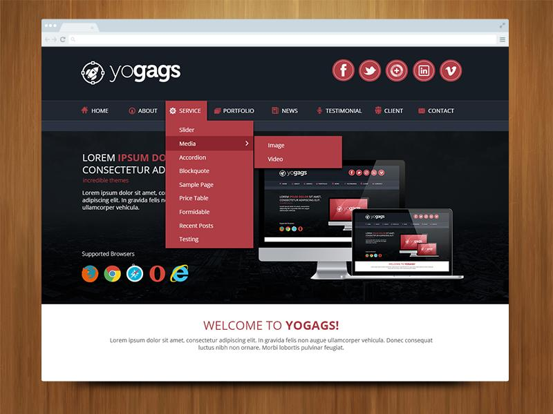 Creative Professional One Page Web Design By Yogags On
