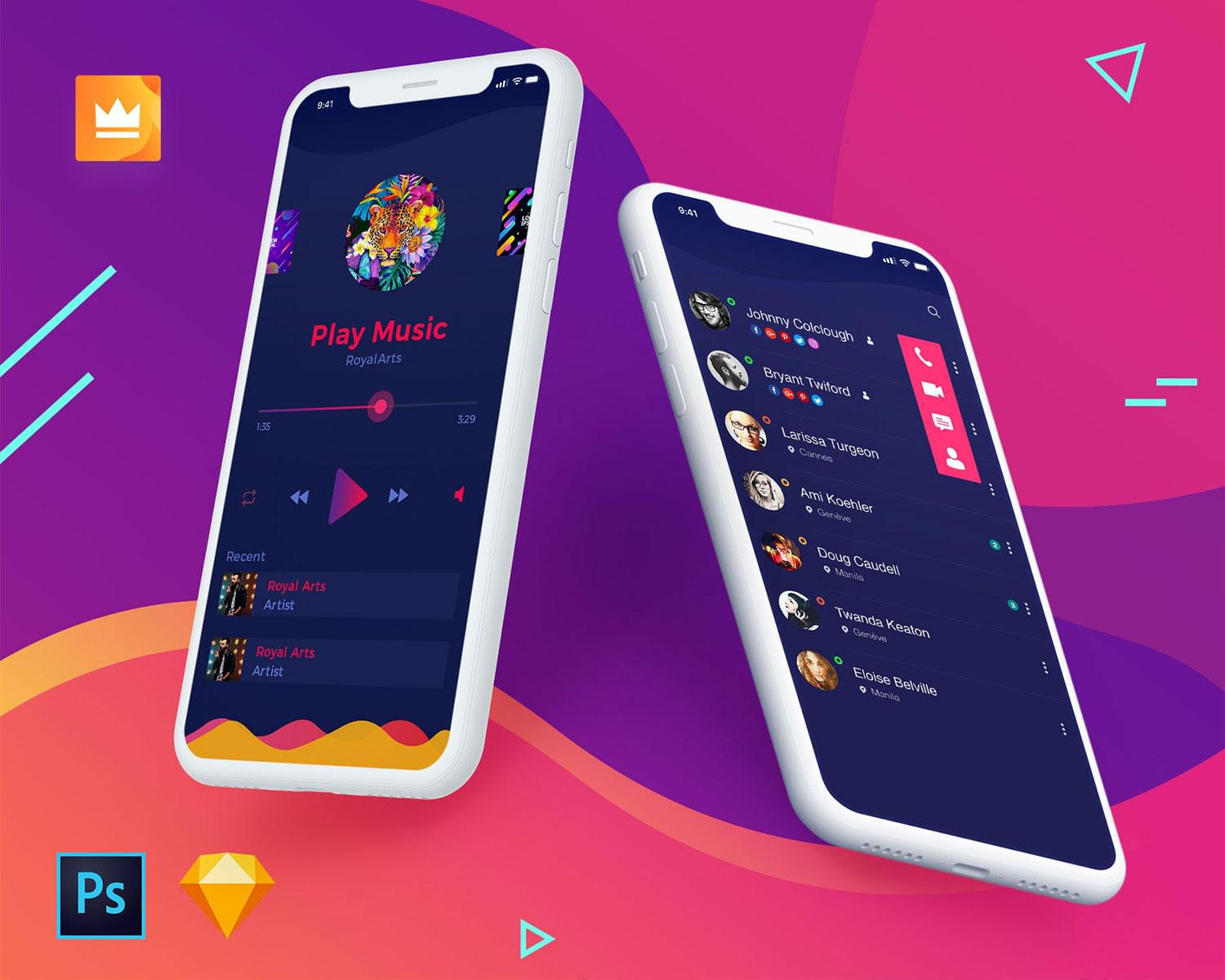 Professional Mobile Application UI / UX Design ( iOS / Android ) by RoyalArts - 111134