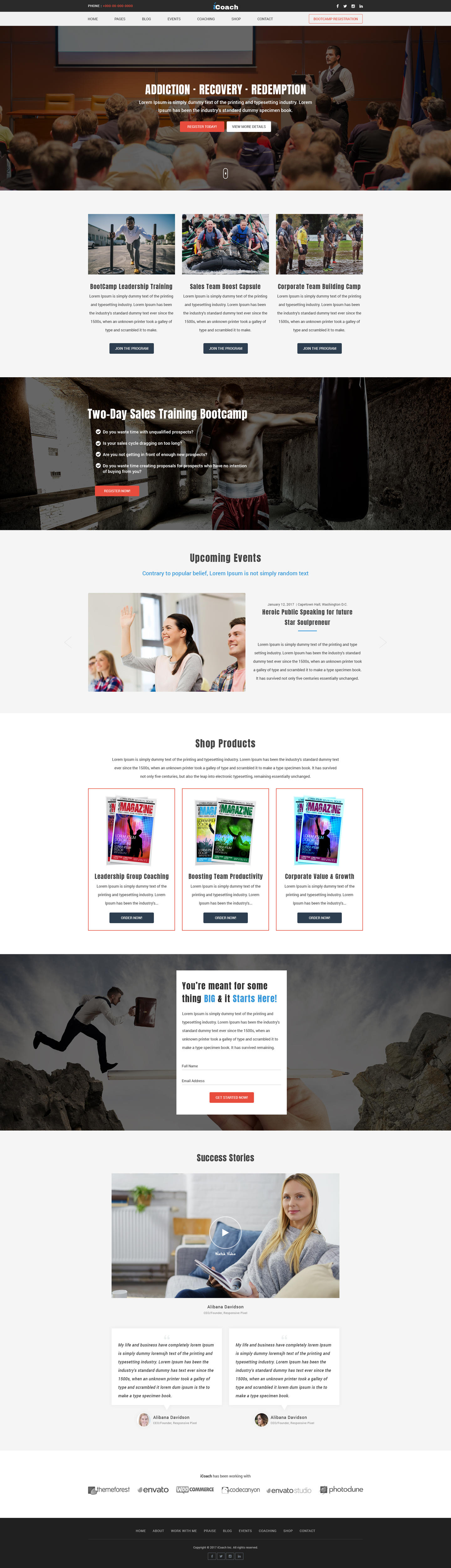 Premium Landing/Single page site design by Bickyg - 105833