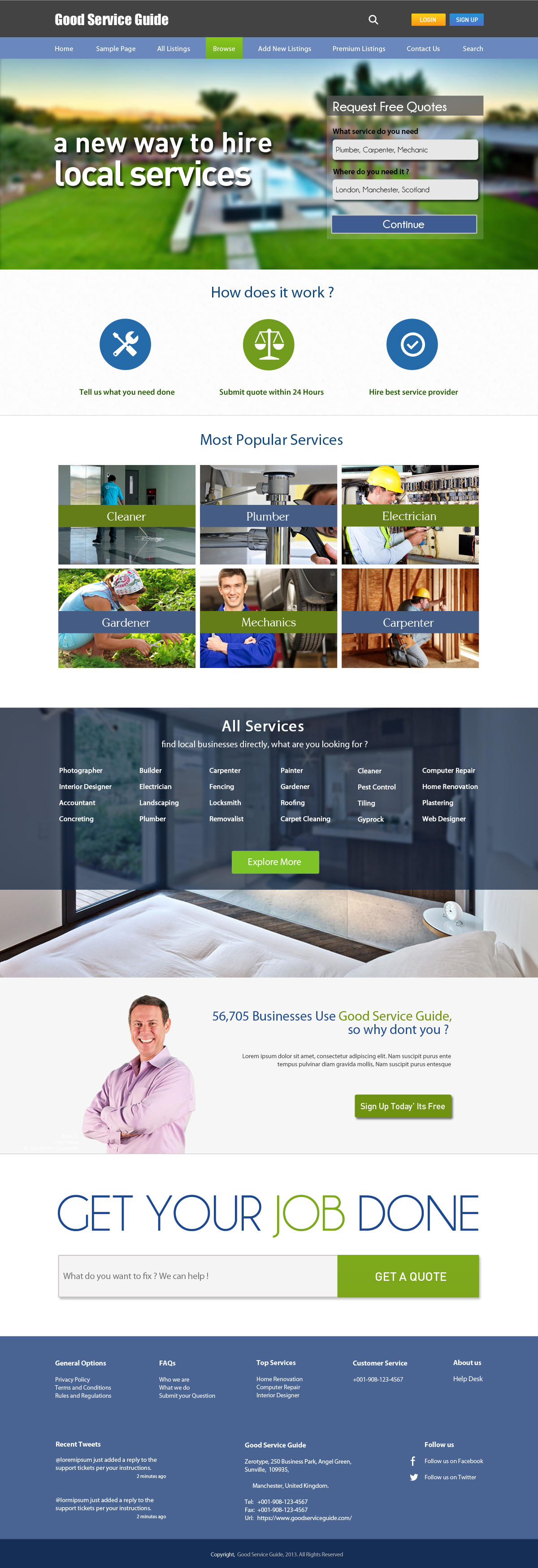 High-End Flat Layout Fully Layered One Page Web Design by MuhammadAbbas - 49779