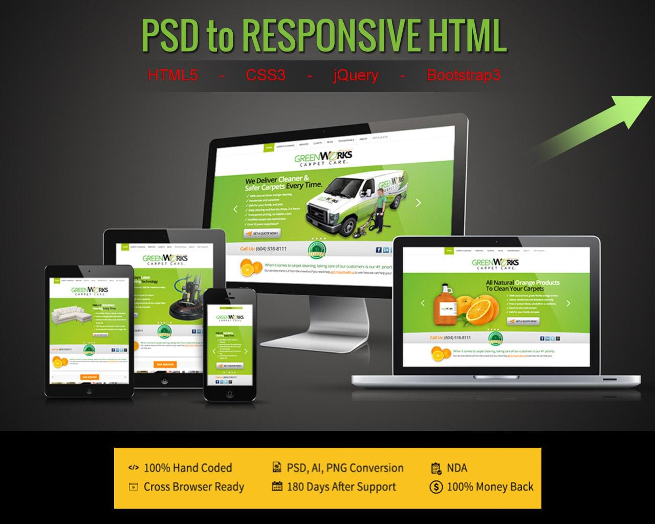 PSD to Responsive HTML5/CSS3 with Bootstrap & jQuery by designsvalley - 111357