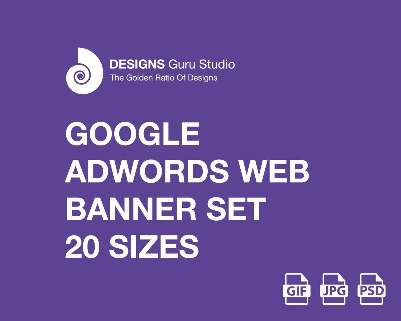 Google AdWords Web Banner Set - 20 Sizes (GIF/JPG) by designsgurustudio - 115306