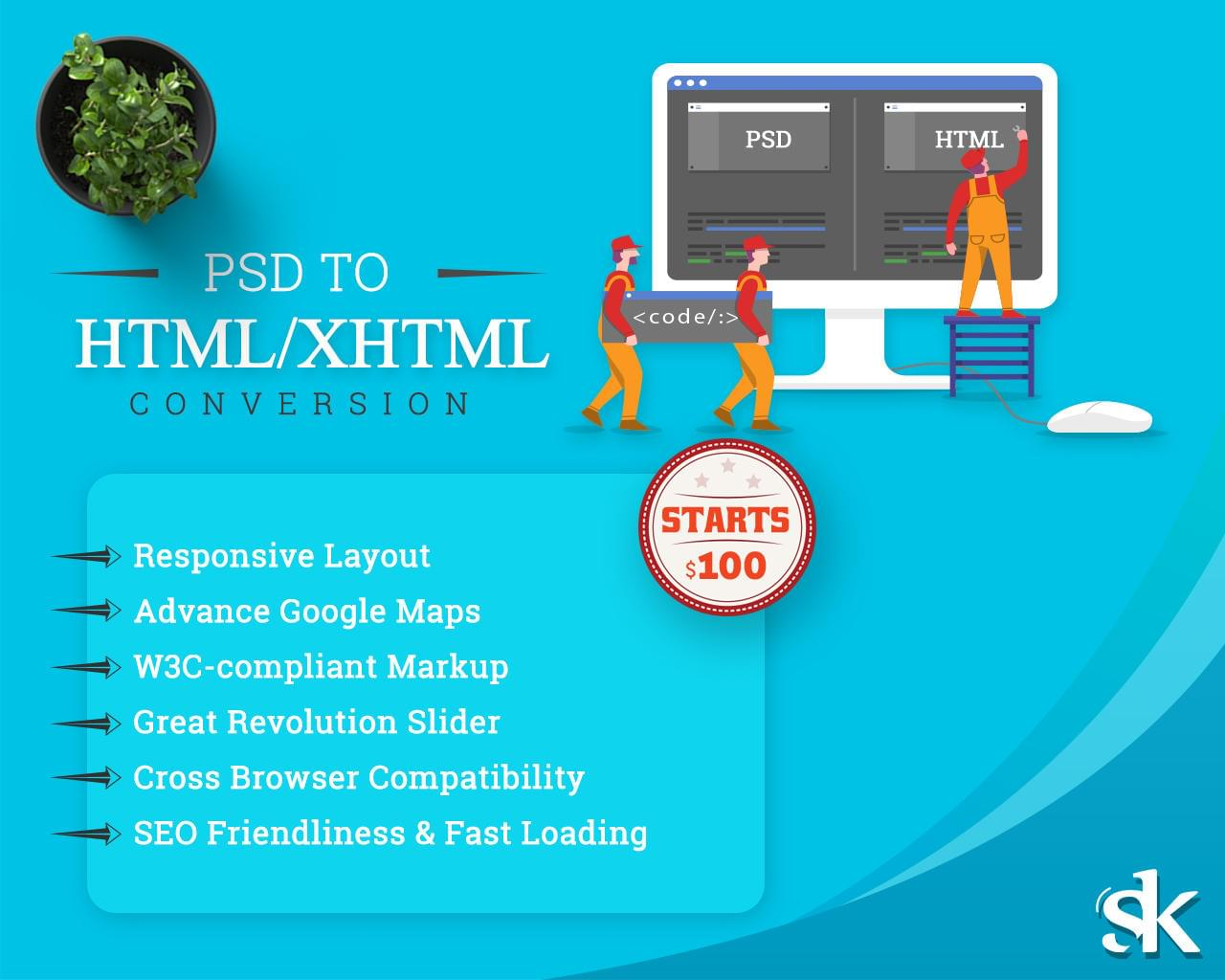 PSD to Responsive HTML Conversion by SK-Web-Solutions - 112994