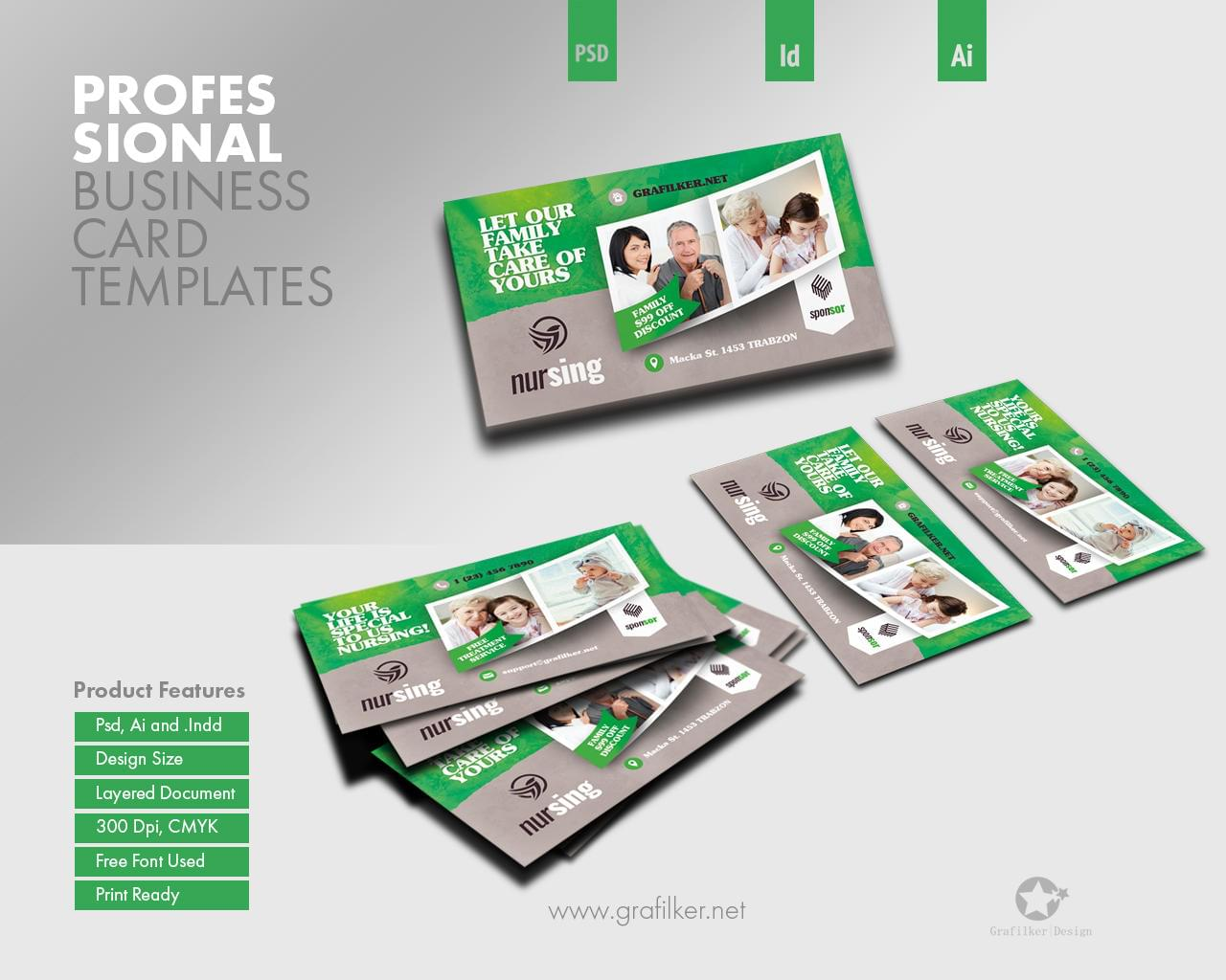 Professional business card templates by grafilker on envato studio professional business card templates cheaphphosting