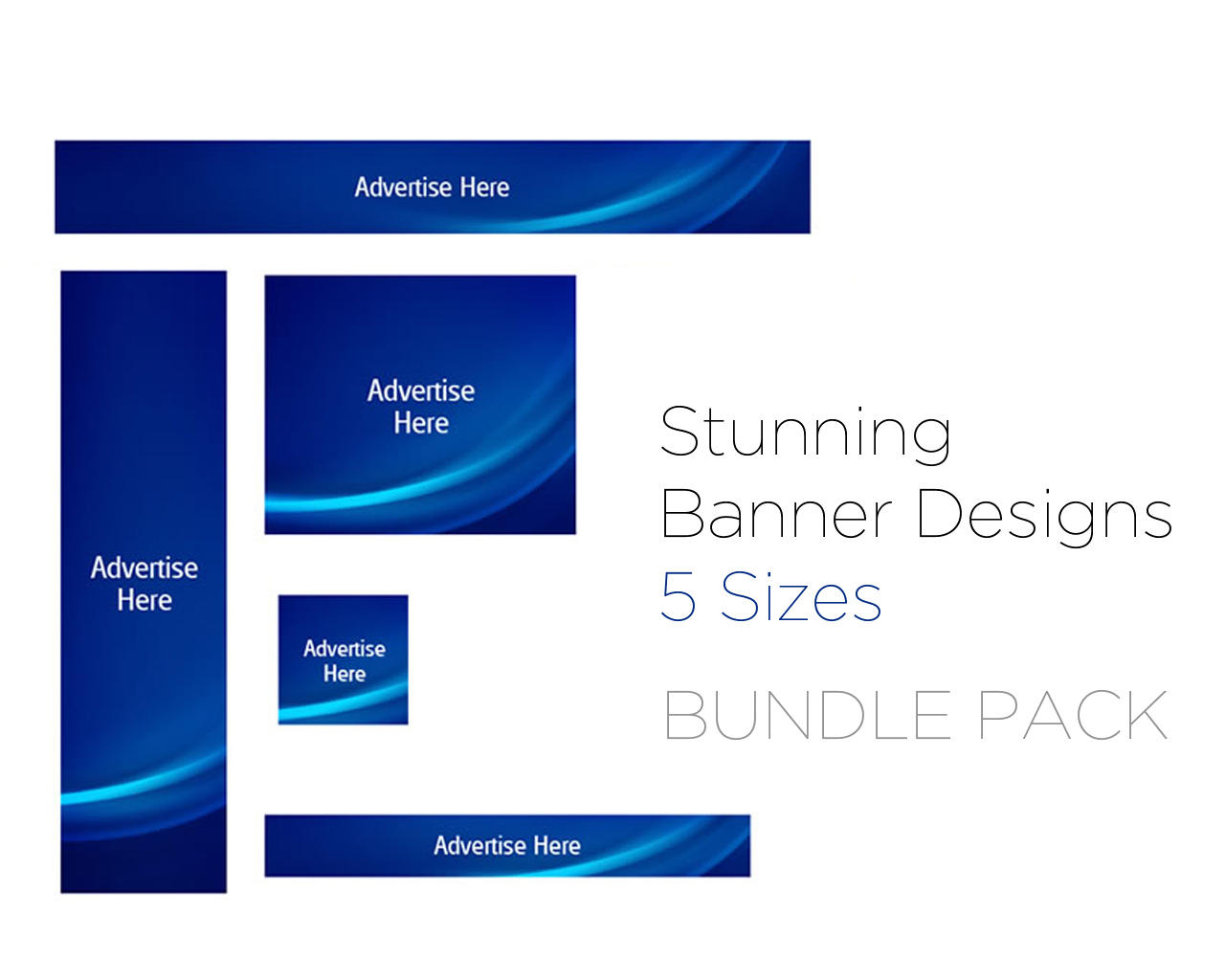 Pack of 5 Web Animated  Gif Banners  by bluetrendz - 75961