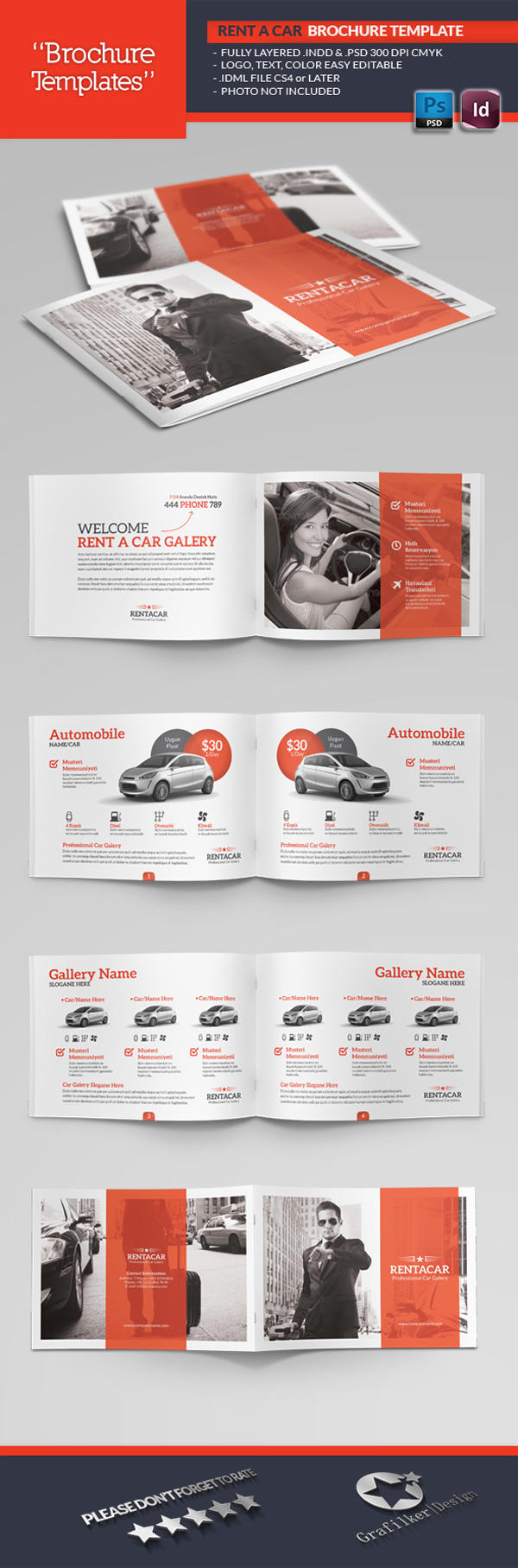 Professional brochure templates by grafilker on envato studio for Professional brochure design templates