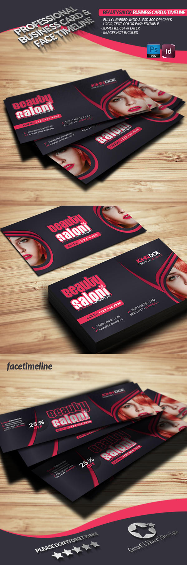 Professional Business Card Templates By Grafilker On Envato Studio - Professional business cards templates