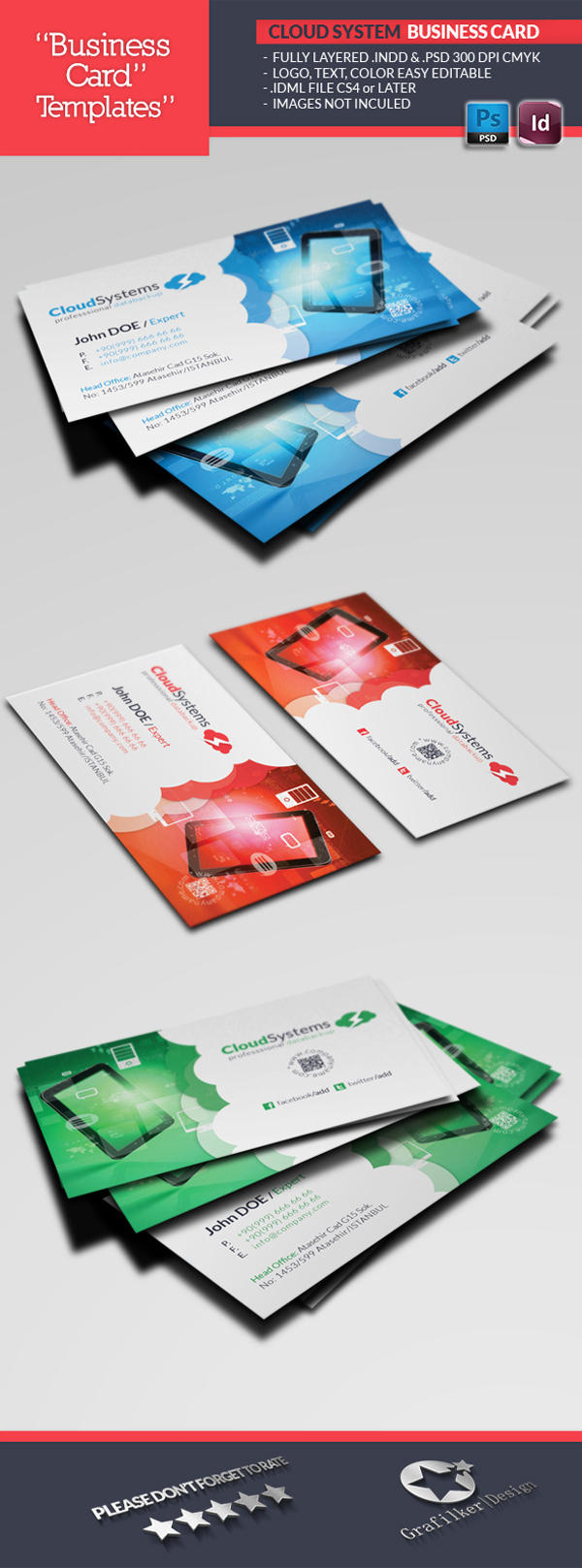 Professional Business Card Templates by grafilker on Envato Studio