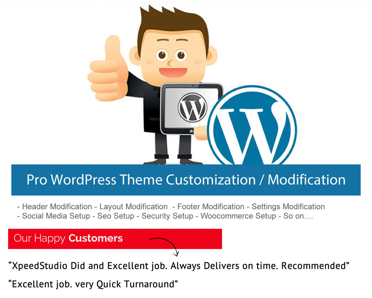 Pro WordPress Theme Customization / Modification with care by XpeedStudio - 103164