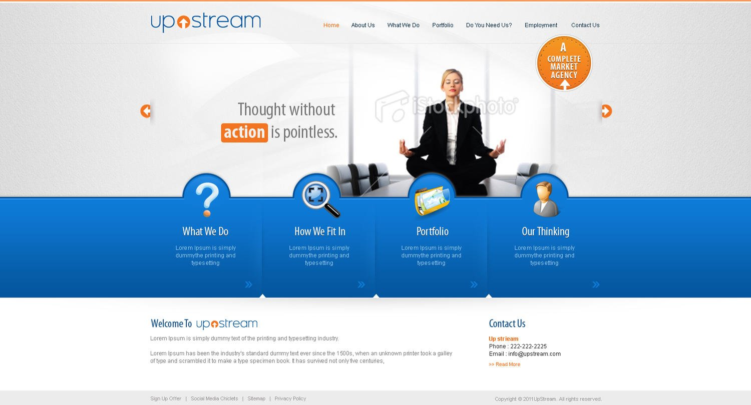 Professional Website Home Page Design / Redesign (PSD) By Sudiptaexpert    9524
