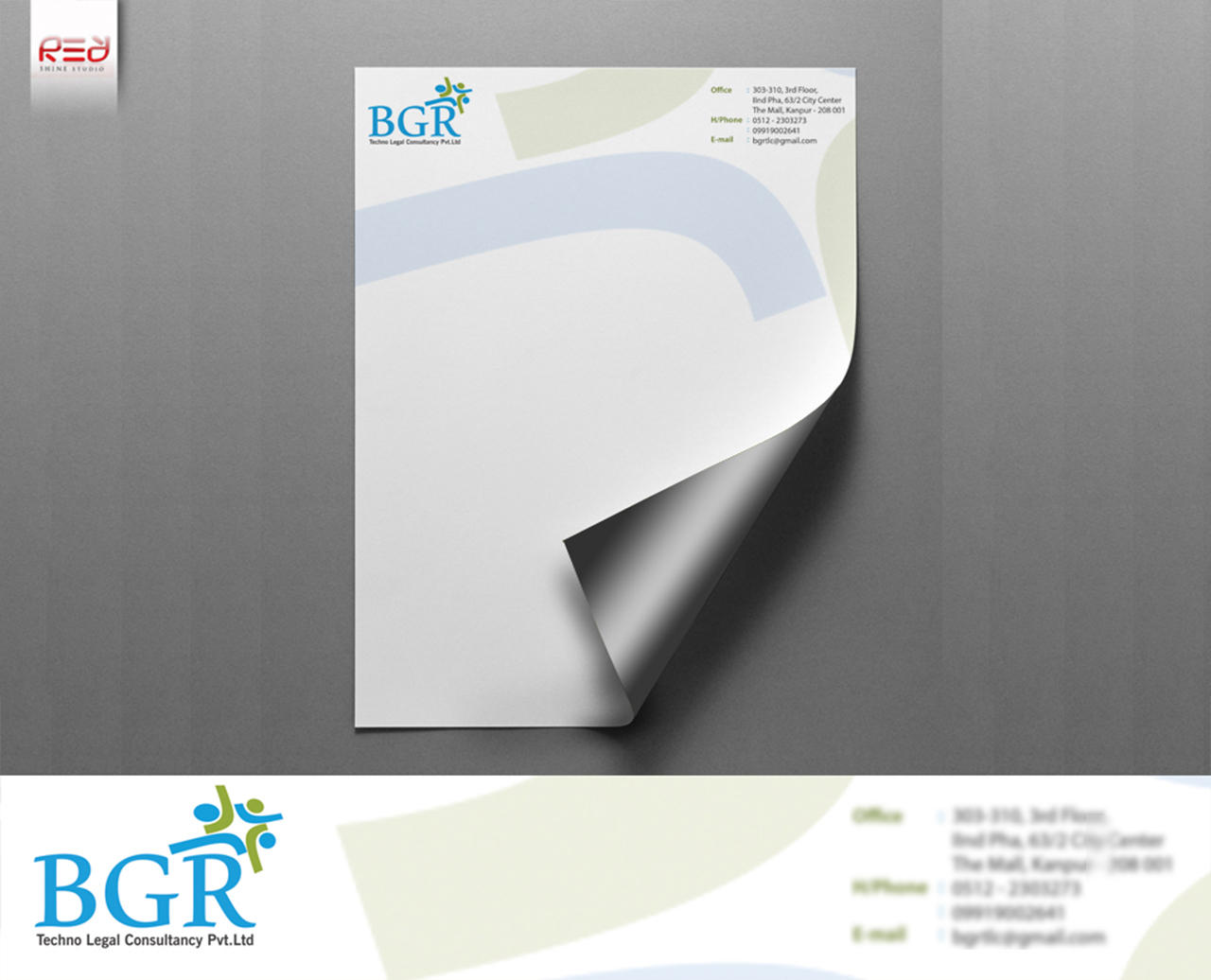 Corporate Custom Letterhead by redshinestudio - 78245