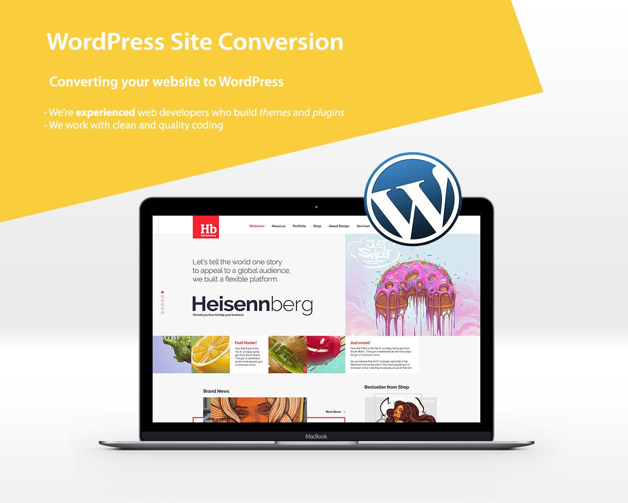 Convert HTML to WordPress by VicTheme - 96588