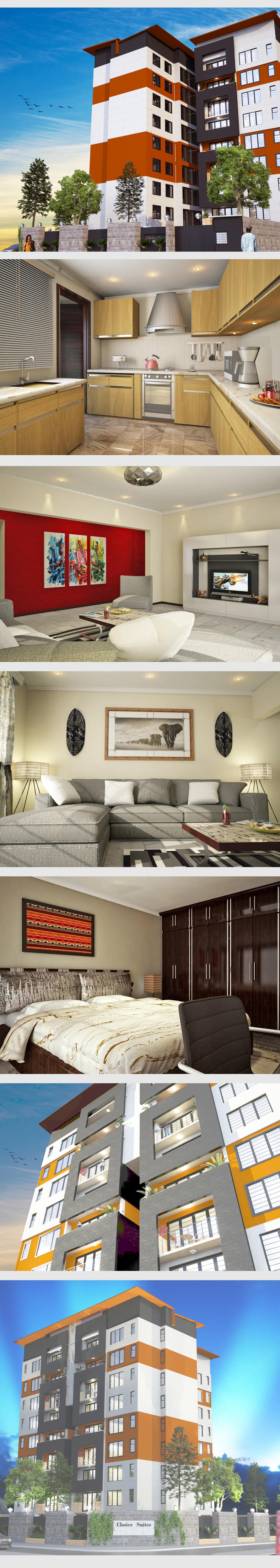 3D Exterior and Interior Rendering Modelling Texturing and