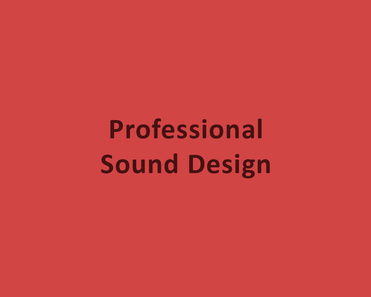 Professional Sound Design by odiusfly - 105965