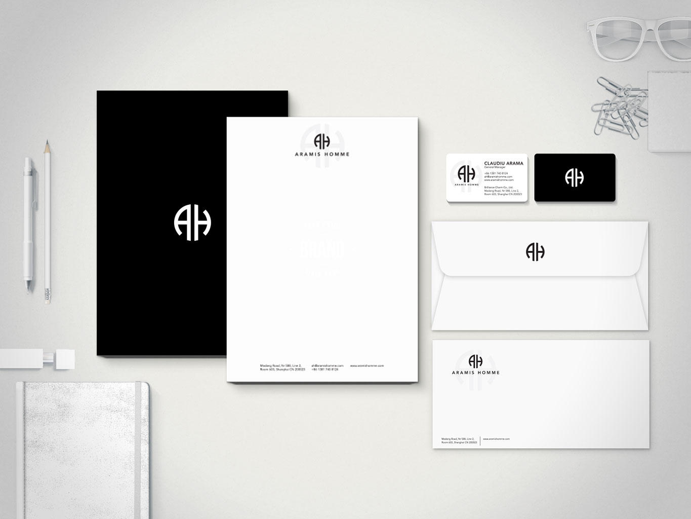 Business Card & Letterhead Design by whitetreeproject on Envato Studio