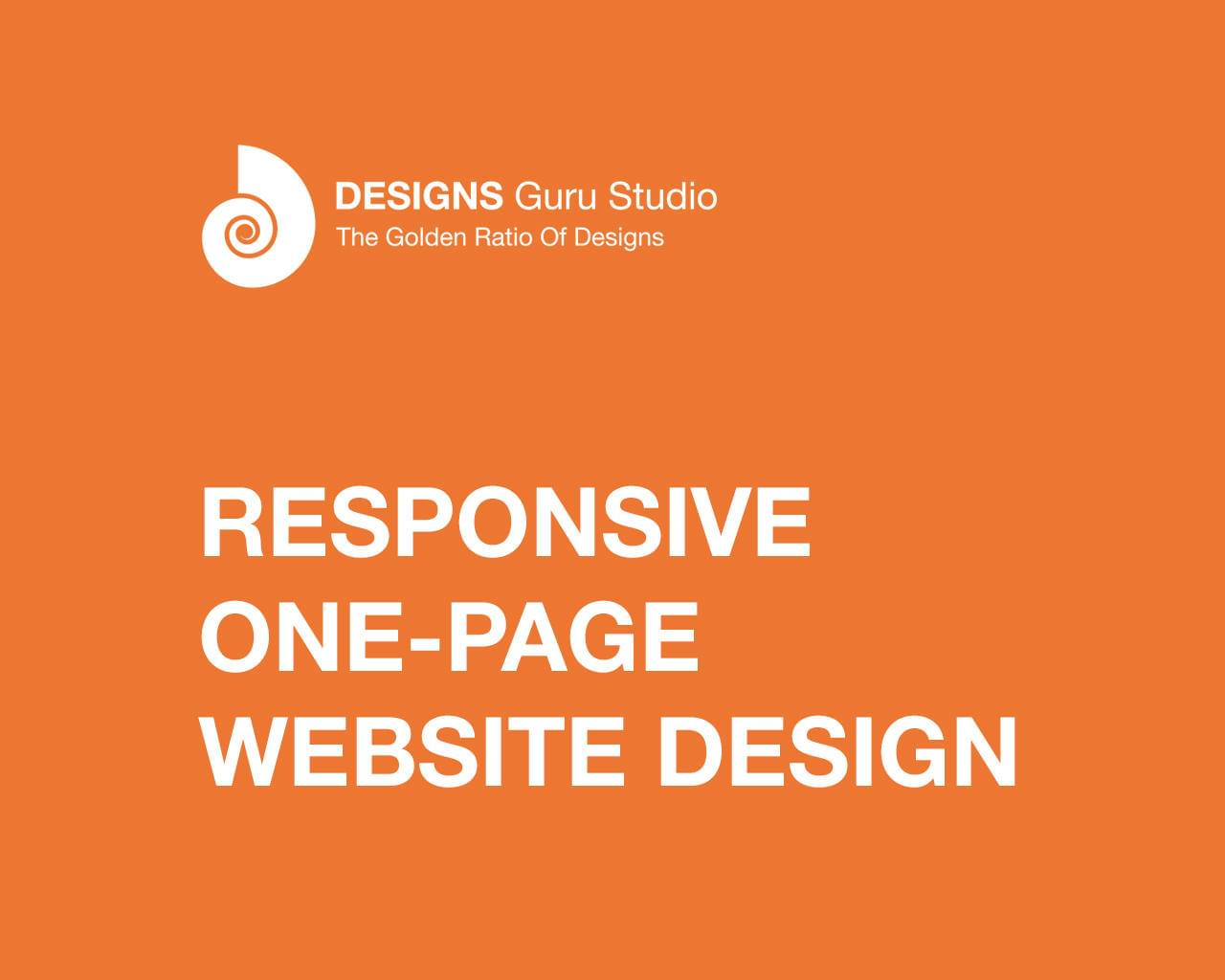 Responsive One-Page Website Design by designsgurustudio - 115416