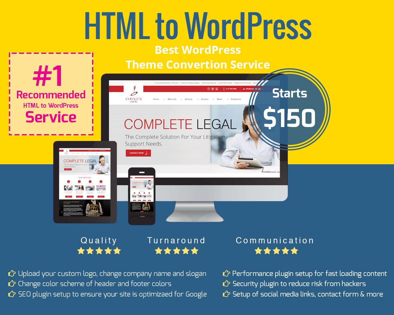 Convert HTML to WordPress Responsive by designsvalley - 112570