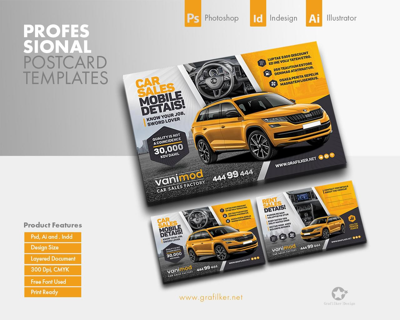 Professional Postcard Templates by grafilker - 117382