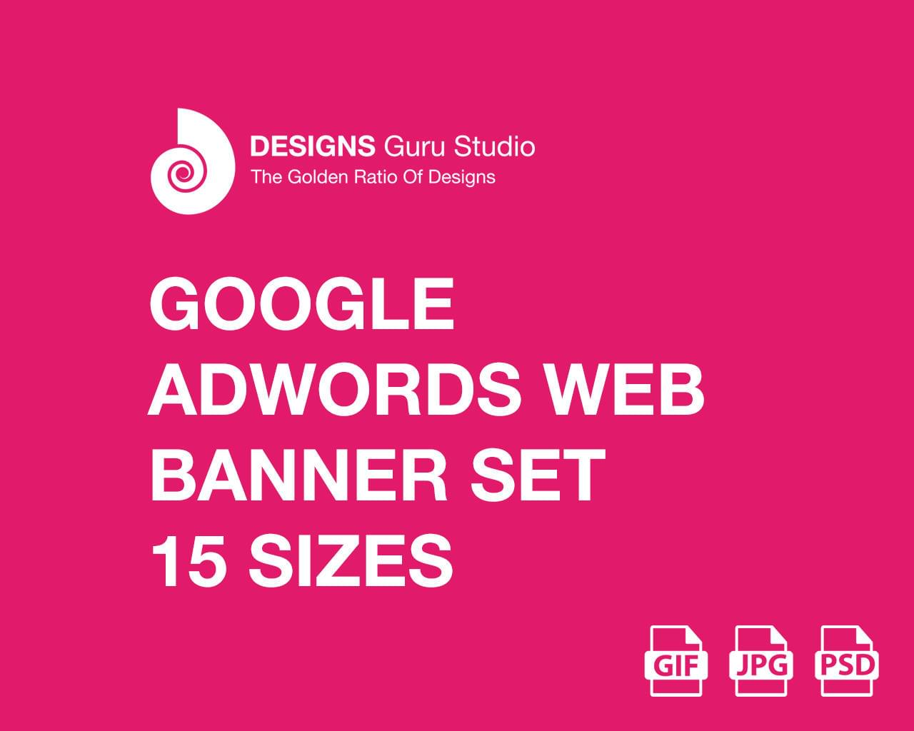 Google AdWords Web Banner Set - 15 Sizes (GIF/JPG) by designsgurustudio - 115319