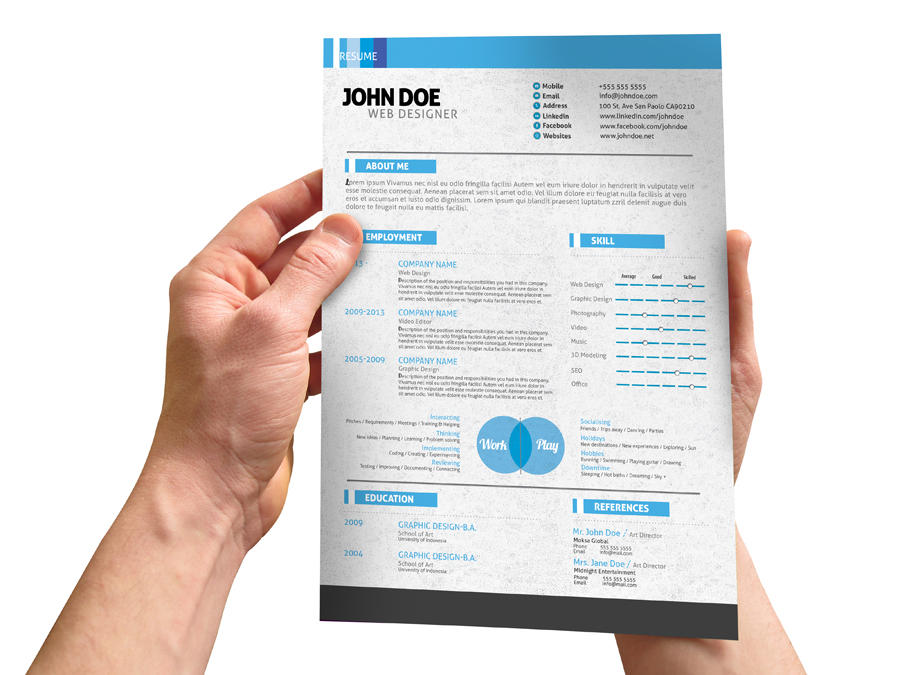 updating resume or brochure with your content by giantdesign on