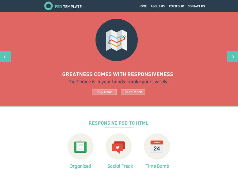Responsive PSD to HTML by elflaire - 29213