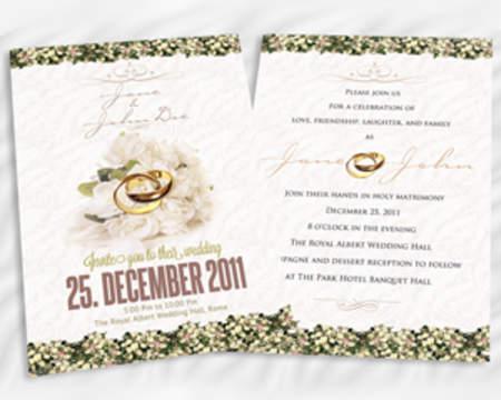 Invitation design services on envato studio creative wedding invitation design stopboris Gallery