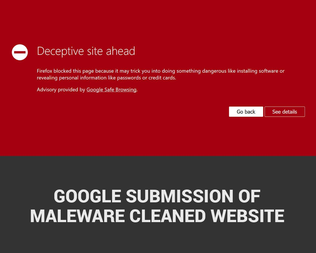 Google Submission of Maleware Cleaned Website by hasanet - 113876
