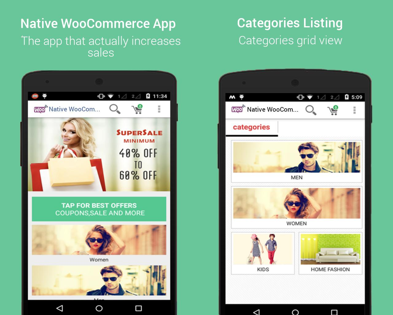 Native WooCommerce Mobile App for Android by dasinfomedia - 85622
