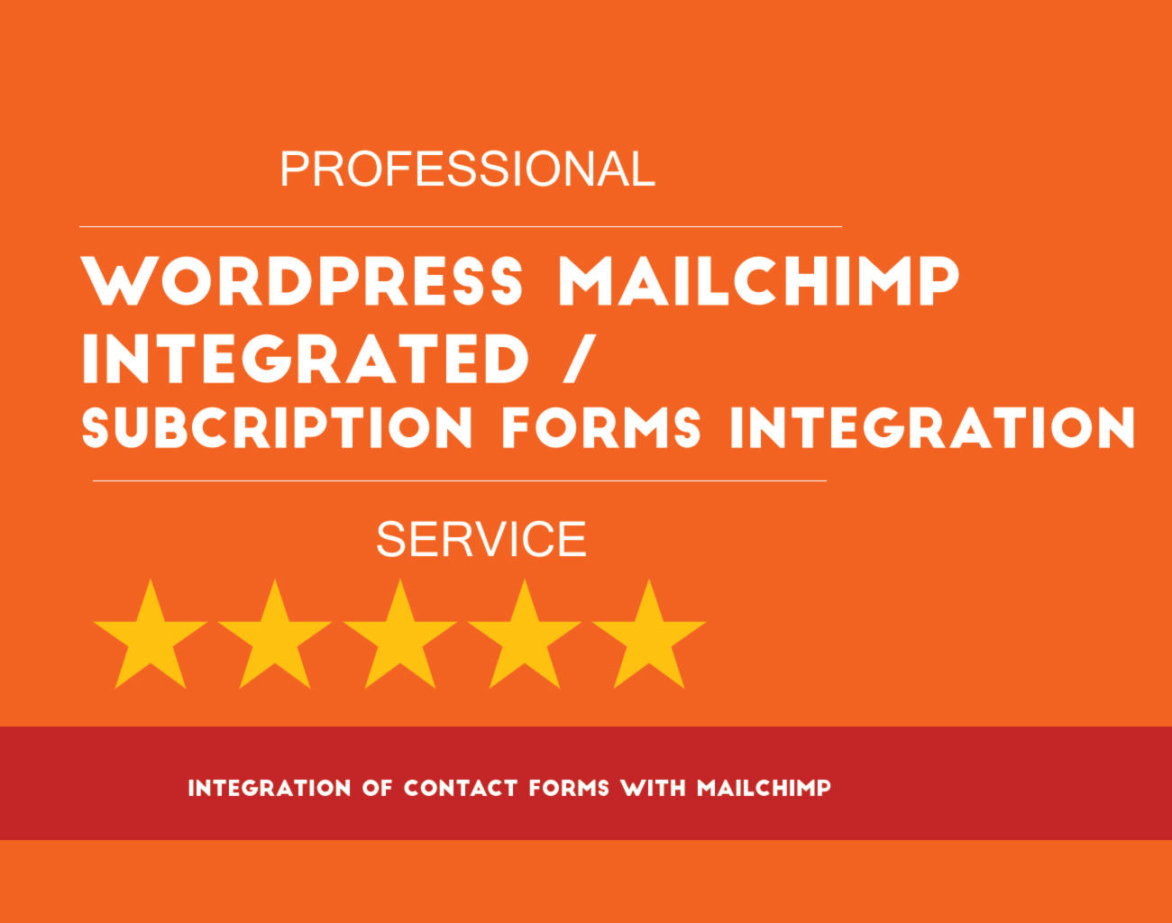 Wordpress Contact Form creation ,  Mailchimp / Subscription Integration by hibiscustechno - 109276