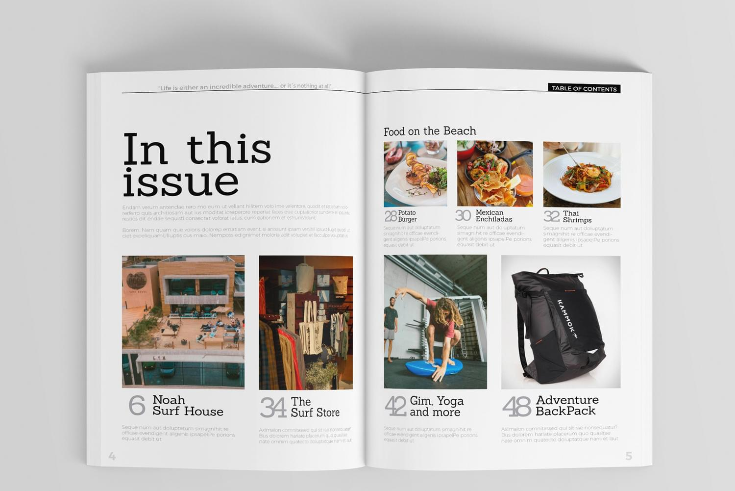 High Quality Indesign Magazine Template by DePautaMadre - 116849