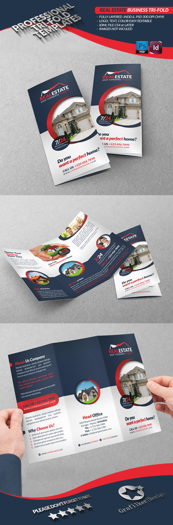Professional Tri-Fold Templates by grafilker - 37468