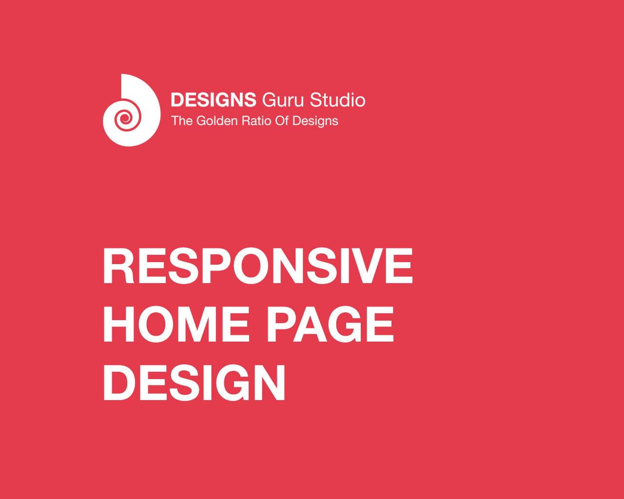Responsive Home Page Design  by designsgurustudio - 116971