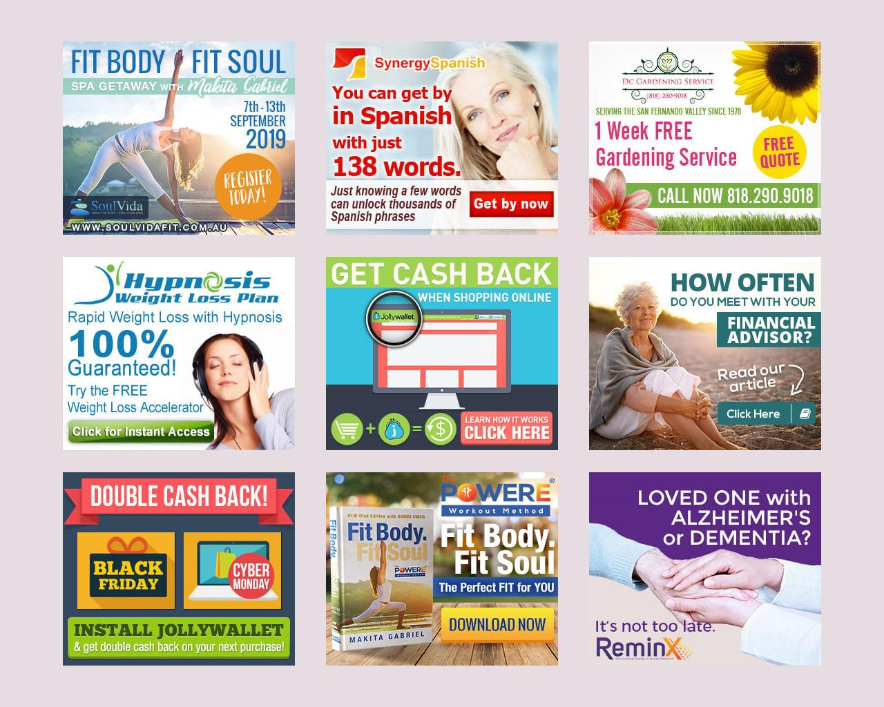 Professional Web Banner Ad Design for Google. Set of 6 by nancy_chr - 114614